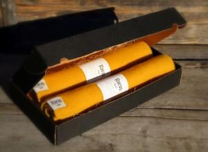 sitteunderlag ull Røros Tweed gul & gul   ullvotten.no